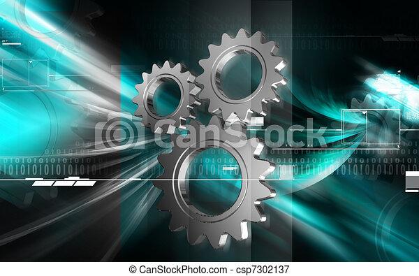 simbolo, industriale - csp7302137