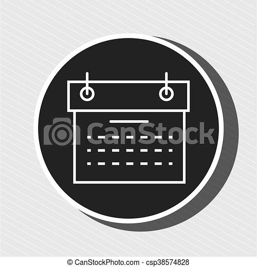 Simbolo Calendario.Simbolo Isolato Disegno Calendario Rosso Icona