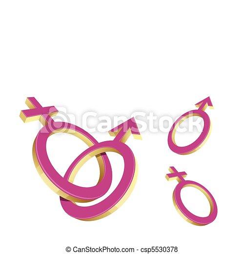 simbolo, maschio, femmina, & - csp5530378