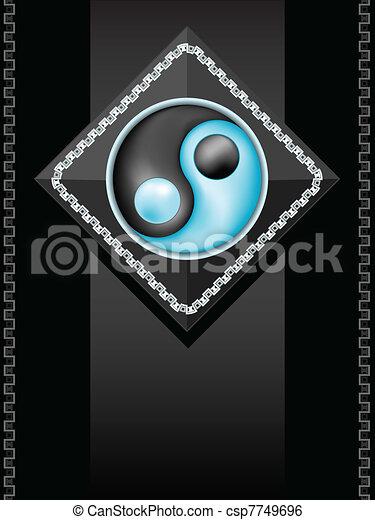 simbolo, yang yin - csp7749696
