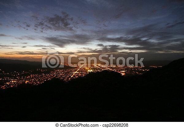 Simi Valley Nightfall - Southern California Sunset - csp22698208