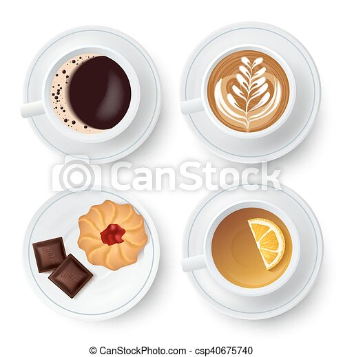 Similar Isolated Cups With Tea And Coffee - csp40675740