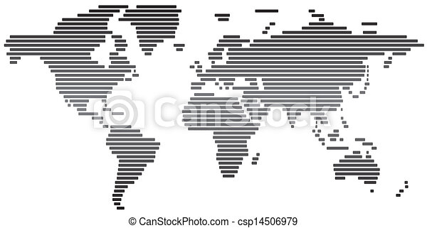 Simple abstract world map black and white stock illustrations simple abstract world map black and white csp14506979 gumiabroncs Choice Image
