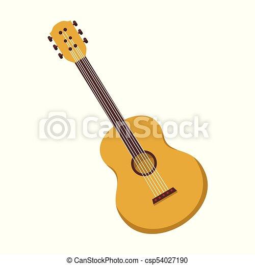 Simple Acoustic Guitar Vector Illustration Graphic Design