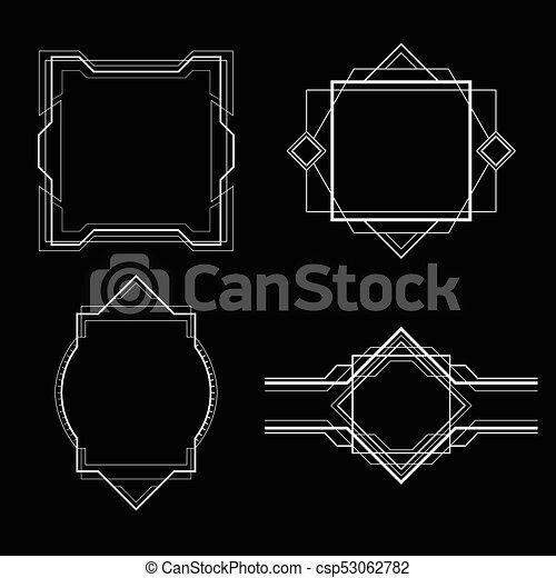 simple art deco frame - csp53062782