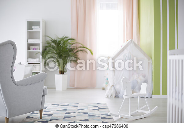 Simple baby room - csp47386400