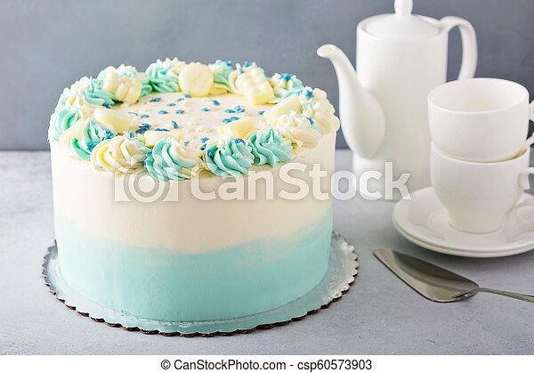 Fine Simple Baby Shower Or Baptism Cake Simple Baby Shower Birthday Funny Birthday Cards Online Amentibdeldamsfinfo