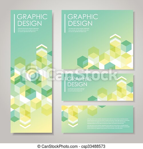 simple background for banners set with hexagons element - csp33488573