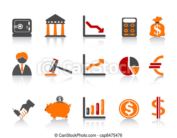 simple bank icons,color series - csp8475476