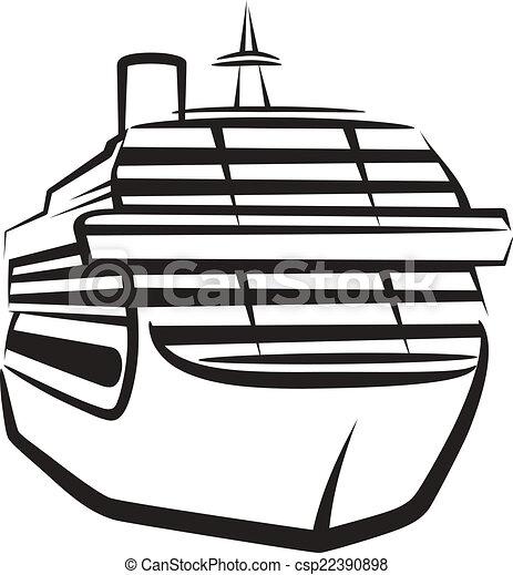 simple, bateau, illustration - csp22390898
