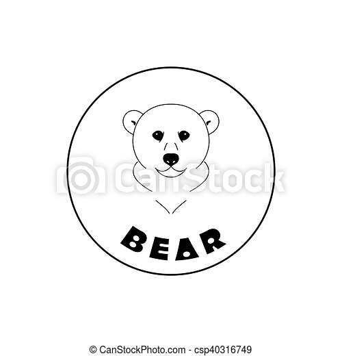 Simple bear face mascot emblem symbols. can be used for t-shirts ...