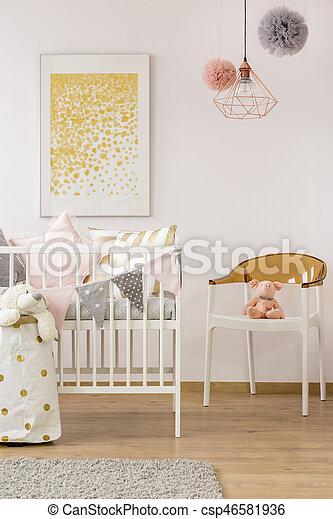 Famoso Marrón Del Bebé Pesebres Muebles Ilustración - Muebles Para ...