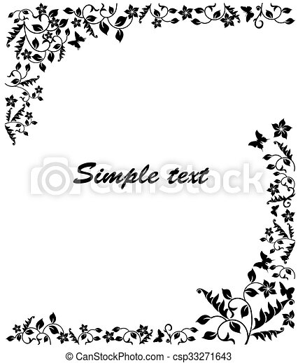 Simple black and white frame.