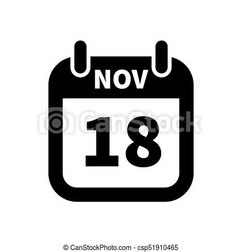 november calendar clip art