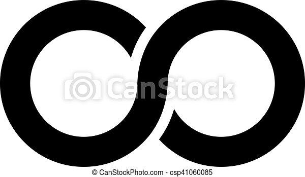 Simple Black Infinity Icon Infinity Symbol Icon Aka Lemniscate