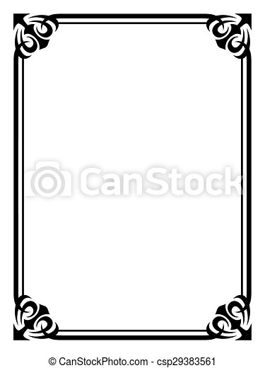 simple black ornamental decorative frame vector simple clip art rh canstockphoto ie picture frame vector file picture frame vector download