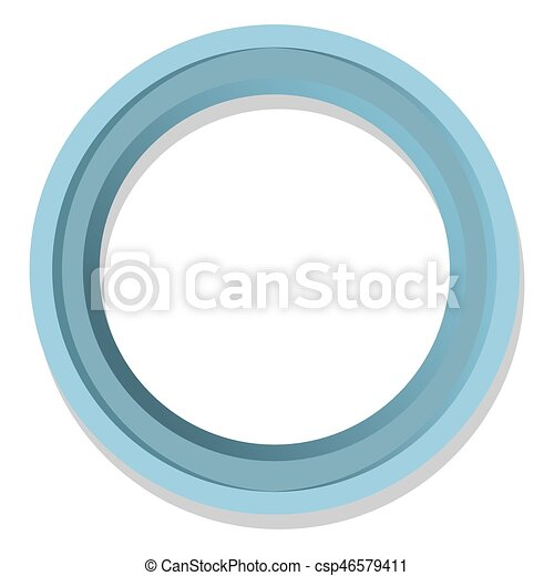 Simple Blue Round Frame Isolated Illustration