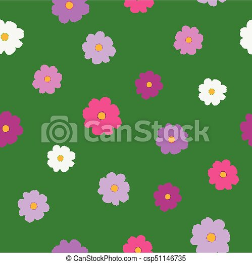 Simple bright cosmos flower pattern - csp51146735