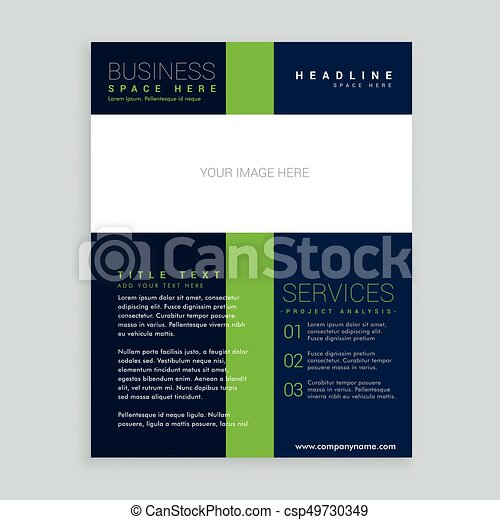 Simple Brochure Cover Flyer Template Design For Your Business