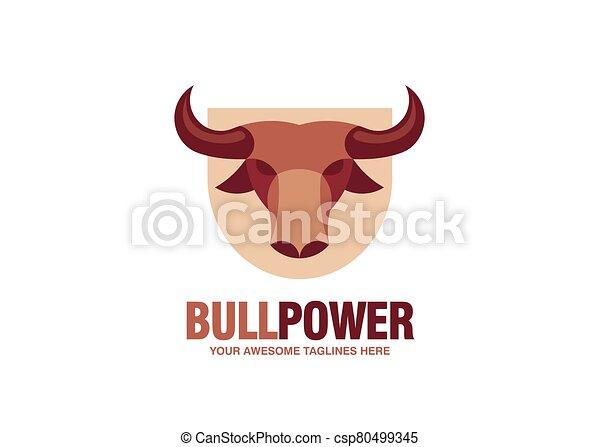 simple Bull head vector logo - csp80499345