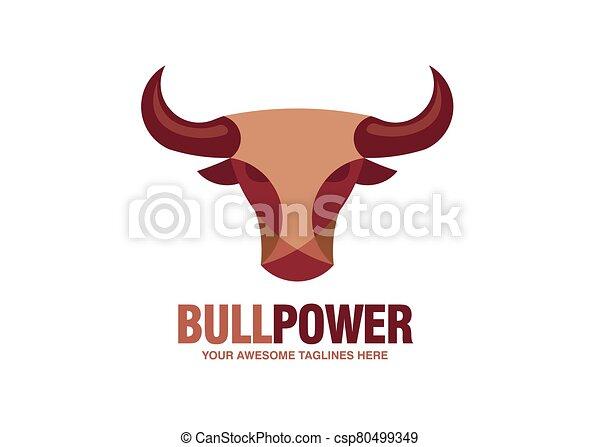 simple Bull head vector logo - csp80499349
