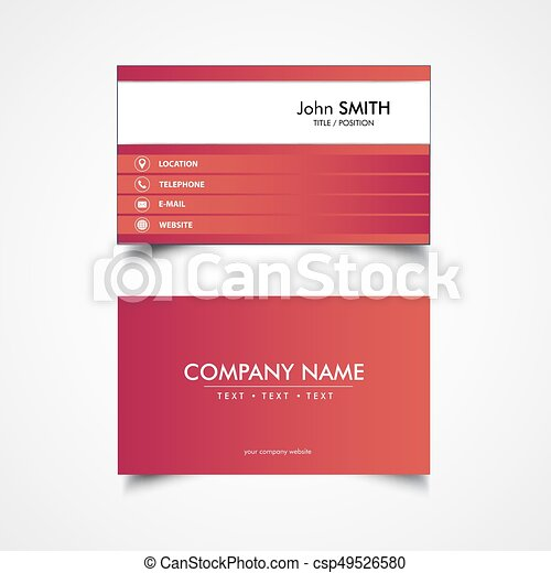 Simple business card template vector illustration vector search simple business card template csp49526580 reheart Gallery