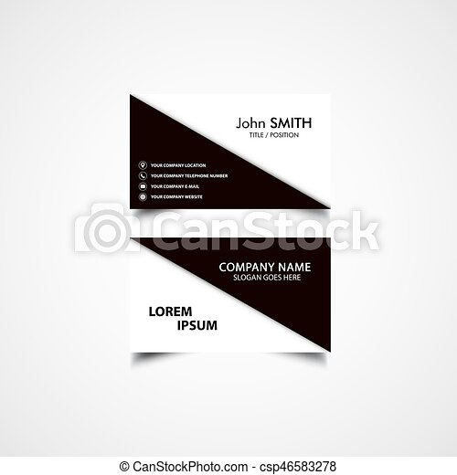 simple business card layouts
