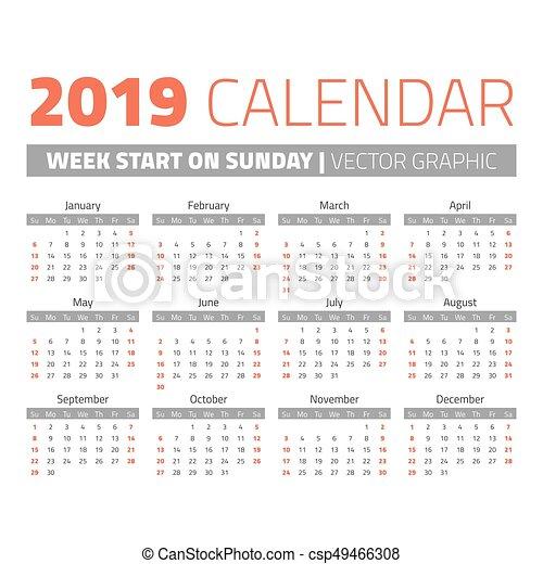 Calendario 2019 Republica Dominicana