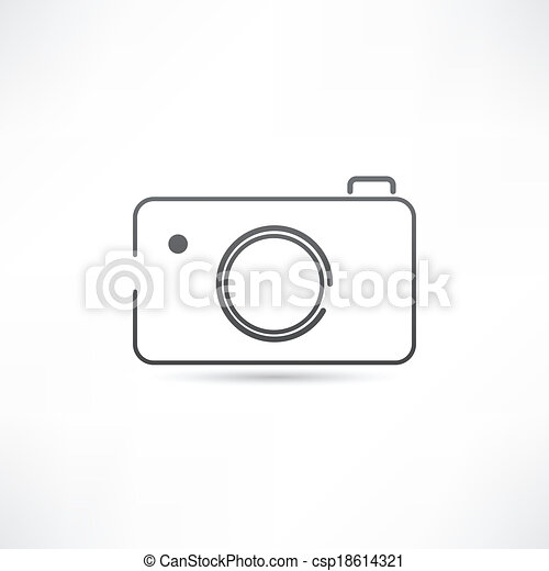 Simple Camera Icon Vector Illustration