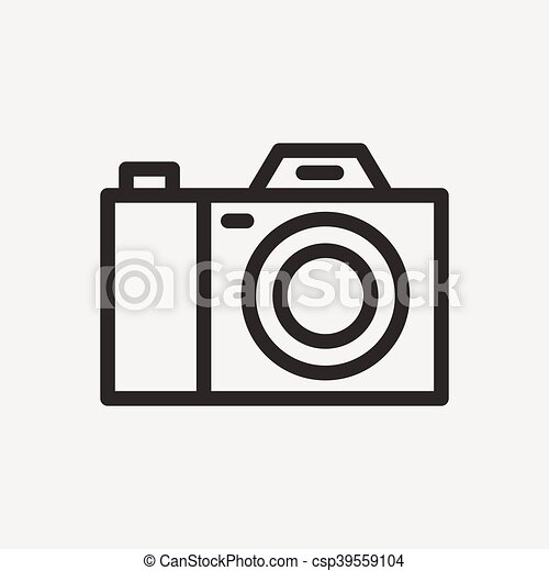 Simple Camera Icon Of Brown Outline For Illustration Vector Clipart