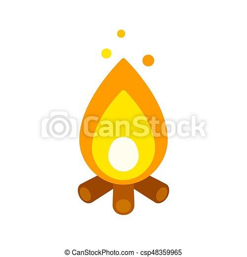 Simple campfire icon - csp48359965