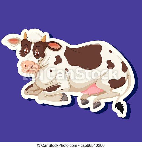 Un simple personaje de vaca - csp66540206
