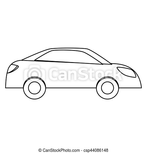Simple car sideview icon image vector illustration design.
