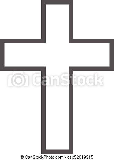 Simple Catholique Vecteur Croix Icone Catholique Simple Croix Illustration Isole Vecteur Fond Icon Blanc Icone Canstock