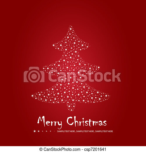 Simple christmas greeting card with pine tree made of twinkling simple christmas greeting card csp7201641 m4hsunfo