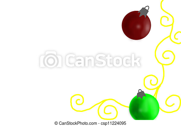 Simple Christmas Ornaments On White