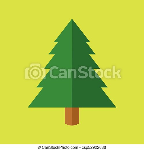 Cartoon Christmas Tree.Simple Christmas Tree Cartoon Vector Illustration