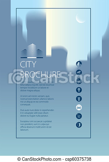 simple city traveling tourist guide book brochure flyer cover