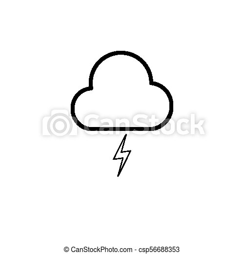 icon lighting. Simple Lighting Simple Cloud And Lighting Icon  Csp56688353 On Icon Lighting