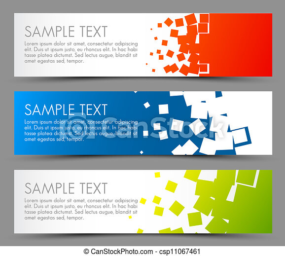 Simple colorful horizontal banners - csp11067461