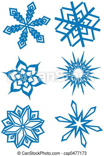 Simple, conjunto, copos de nieve. Paper\\\\\\\