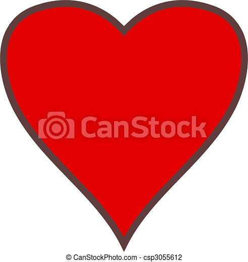 Corazón sencillo - csp3055612