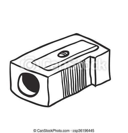Simple Crayon Blanc Noir Aiguisoir