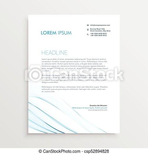 simple letterhead design