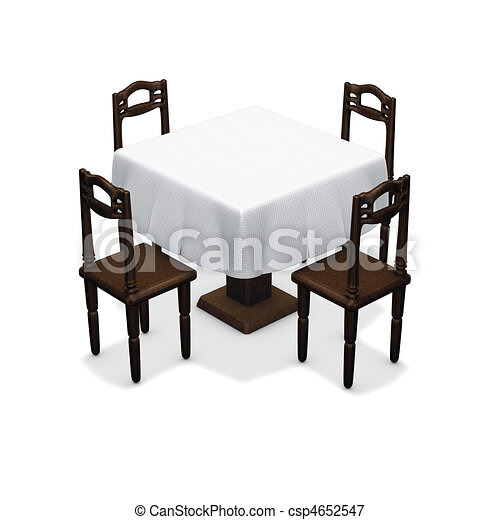 Simple Dining Table   Csp4652547