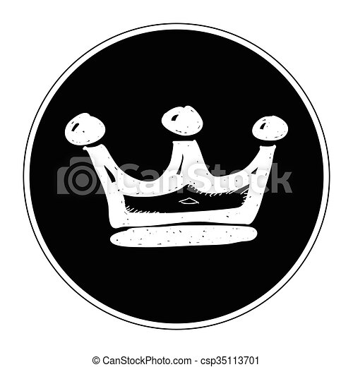 Simple Doodle Of A Crown Simple Hand Drawn Illustration Of A Crown Have fun and happy drawing! https www canstockphoto com simple doodle of a crown 35113701 html