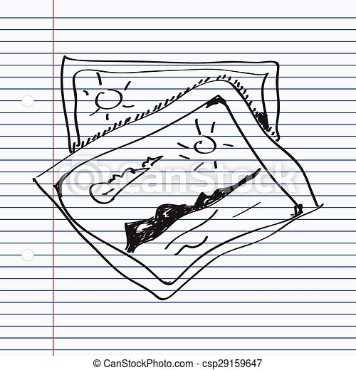Simple doodle of a photograph - csp29159647