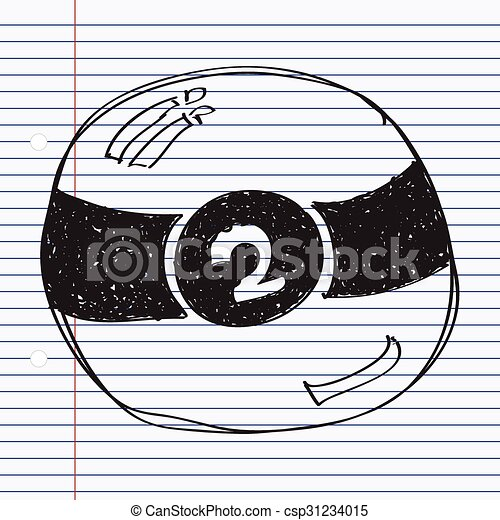 simple doodle of a pool ball simple hand drawn doodle of a pool ball