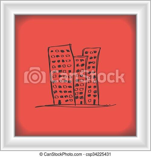 Simple Doodle Of A Skyscraper