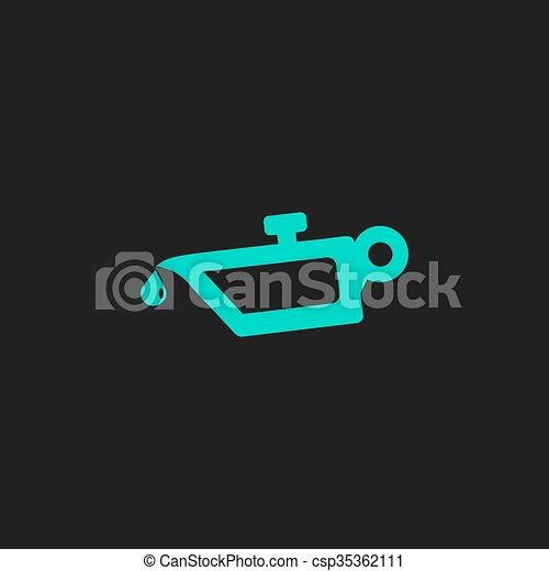 Simple Engine Oil Icon Simple Engine Oil Flat Simple Modern